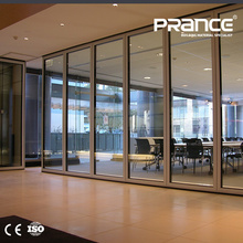 Office cubicle partitions aluminum single glass partition