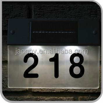 5 LED waterproof outdoor solar house number light (JL-6553)