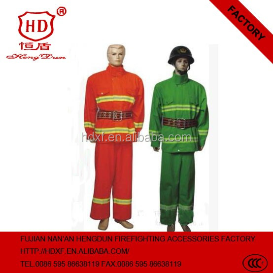 2016 New Factory direct sale wholesale used fire retardant fire fighting clothing