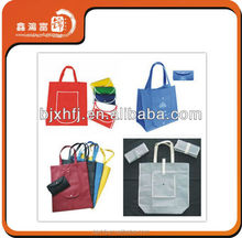 Handled Style reusable matt glossy laminated pp non woven shopping bag with platic button