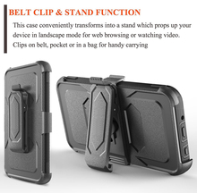 Durable cheap import phone case , 3 IN 1 Kickstand Belt Clip case for LG k8 2017