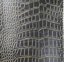 semi pu leather for car seat covers sofa garment bag shoe Crocodile skin grain synthetic leather
