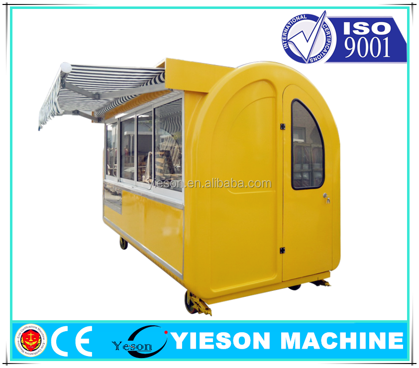 Outdoor Fast Food Kiosk Vending Carts