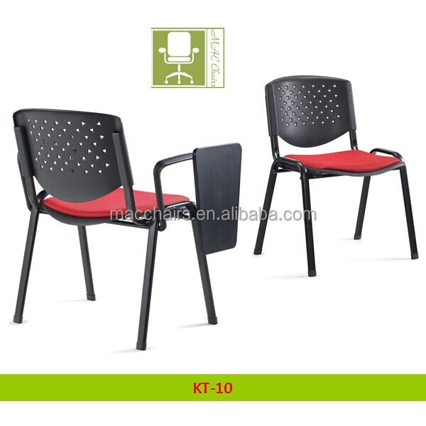 Cheap price Office Furniture / Staff Plastic Chair With wrting board KT-10