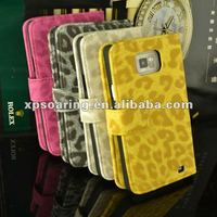 leopard stand case with card insert for Samsung Galaxy S2 i9100