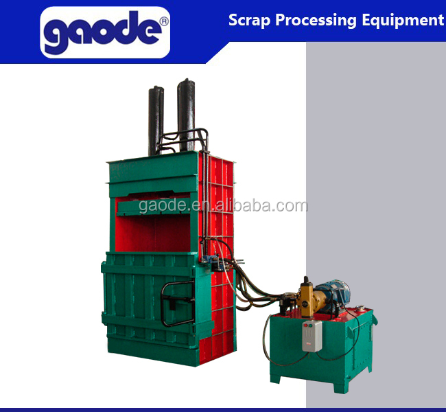 CE hydraulic solid plastic vertical waste compactor
