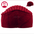 short bill knit visor hat / one size fits most cap /beanie