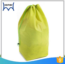 promotional cheap extra large non-woven laundry drawstring bag for socks