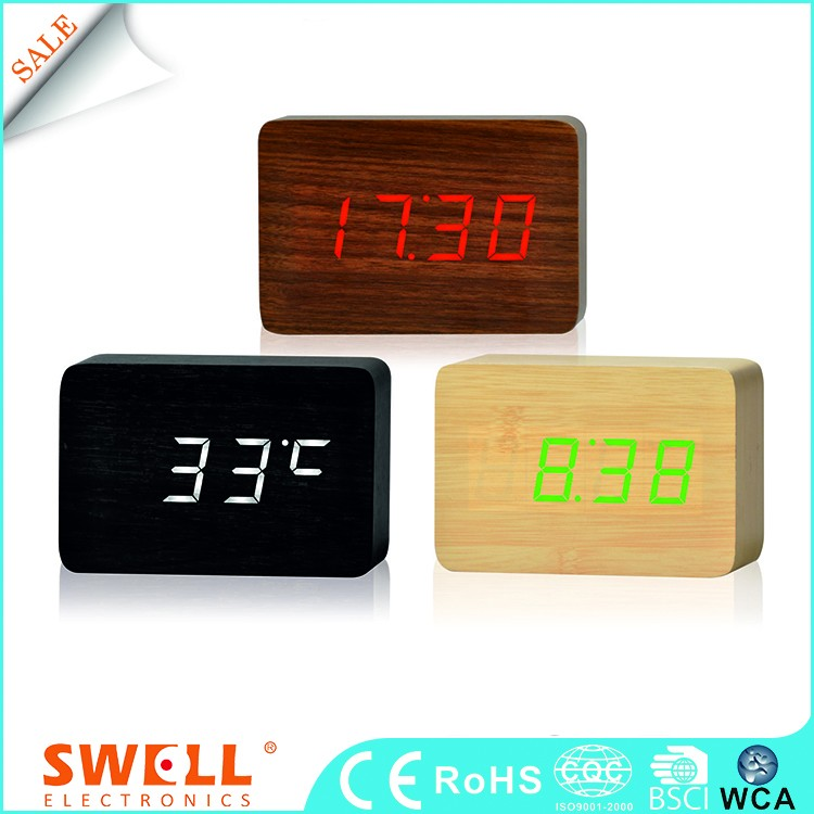 Bsci Table Sound Controlled Unique Couple Elderly Alarm Clock Factory