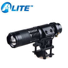 18650 Battery Mini Tactical 1000LM T6 LED Zoom Gun Mount Flashlight