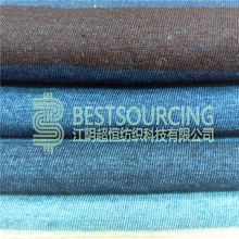 factory direct combed cotton single jersey knitted indigo f/stripe jersey