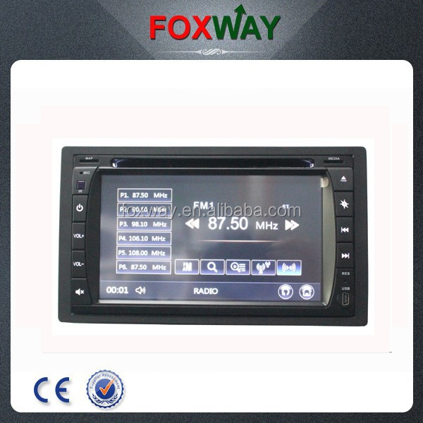 "Foton Tuland 6.2"" 2 din car DVD player with Bluetooth/GPS/Mirror-link/SWC"