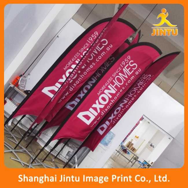 custom different kinds of feather flags for advertising