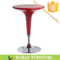 Cheap Modern Coffee Table Bar Furniture Plastic ABS Adjustable High