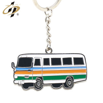 Custom own design metal enamel paint wholesale car key chain