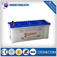 china high quality N120 12V120AH Automotive car battery in stock