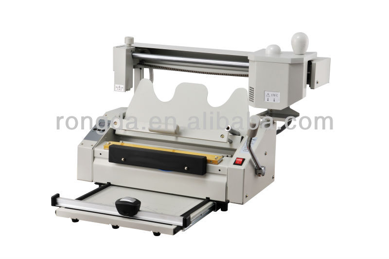 Manual a3 desktop perfect glue book binding machine