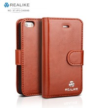 Fashion design pu leather flip wallet case for iphone 5s