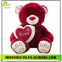 Super Soft Pink Plush Bear Toy Wholesale with Heart