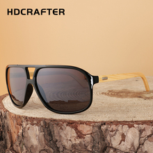 HDCRAFTER men fashion bamboo sunglasses oversize driving wood sun glasses eyewear for mens