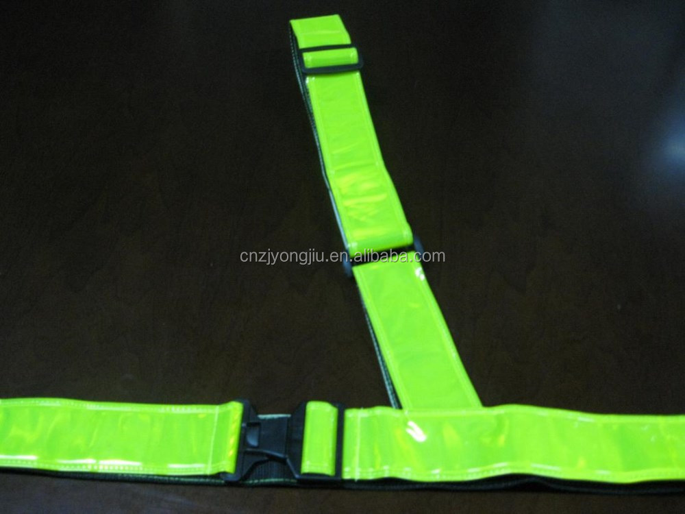lineman safety belt with reflective tape