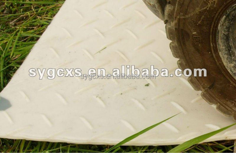 large plastic floor mat/temporary floor protection