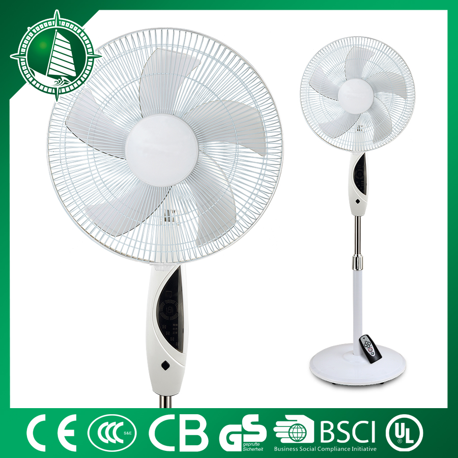 Pedestal competitive price 16 inch stand fan with remote control