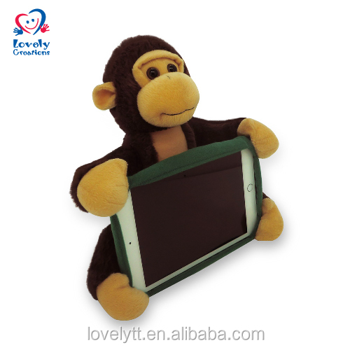 "9.5"" Tablet Cover Cushion In Monkey Pattern Plush Toys For Claw Machine"