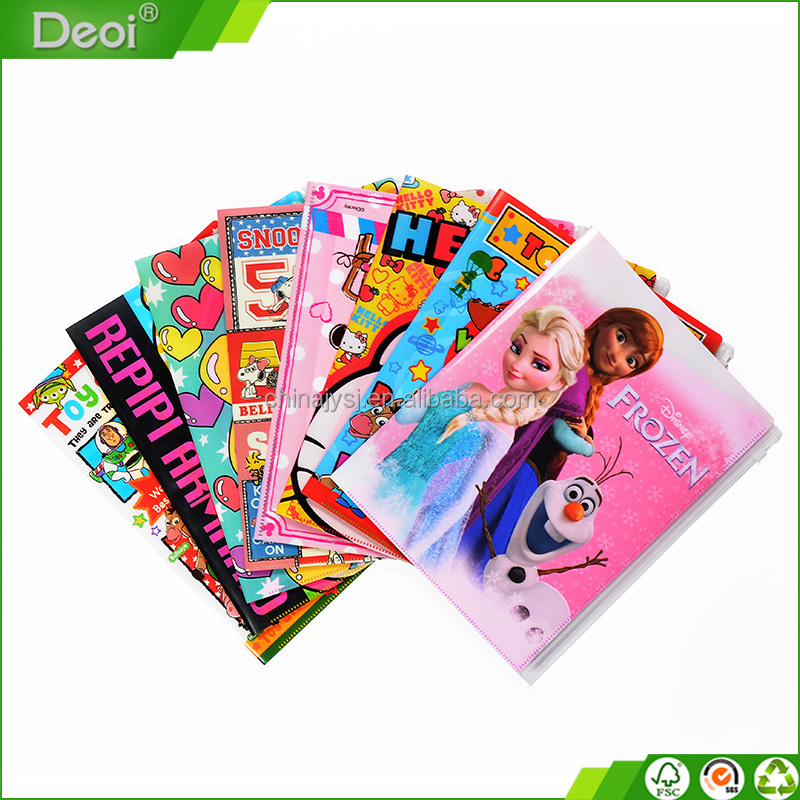 PP Material and Document Bag Type plastic file folder