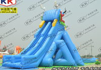 Inflatable wild rapid slip and slide / inflatable long beach water slide
