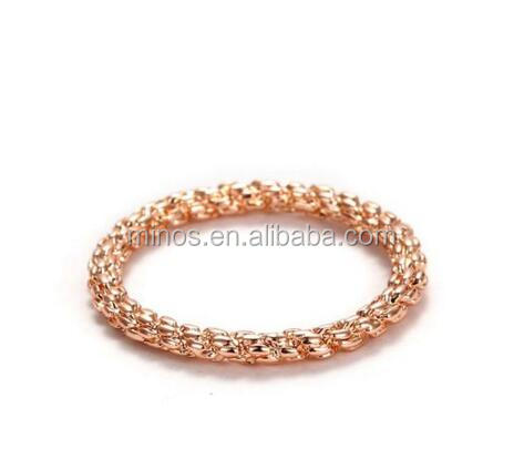 Women's Stainless Steel Beaded Chain Bracelet One Size Color Rose Gold