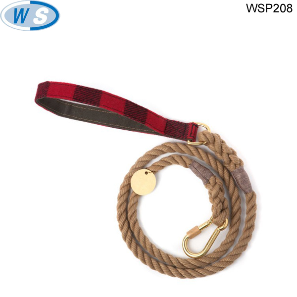 Most popular hemp dog leash Best price high quality