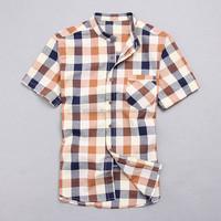 2015 the latest design 100% cotton check casual uniform university dress shirt