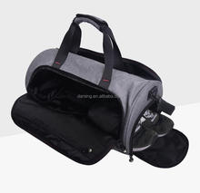 Wholesale custom canvas men's sport travel duffel bag with cooler compartment