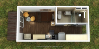container cottage with restroom/cabin container with living room/prefab container house