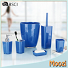 Blue Plastic 6 Piece Bath Accessory