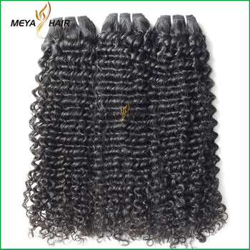 Sexy lady products Brazilian mink hair real mink curly hair weft