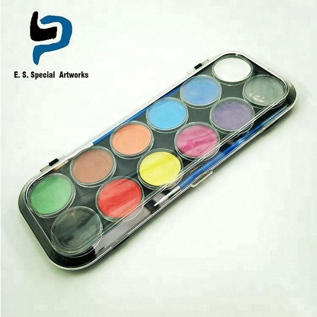 FDA approved face paint water based body paint kits with brushes, stencils