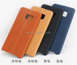 USAMS new accessories decent design cheap price PU leather material back Case for Samsung Note7