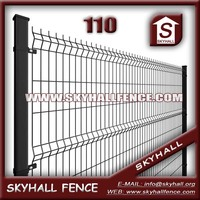 5mm 150mm X 150mm Coated Metal Farm Fence / Curvy galvanized welded wire mesh panel