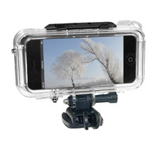 Protective Shell Waterproof Case Cover Sports Accessories Mounting Kit for iPhone 4 & 4S, Waterproof Depth: 10m