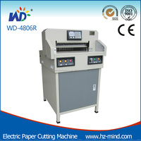 Chine fabricant Professionnel petit massicot machine WD-4806R Programmable 18 pouce coupe-papier guillotine
