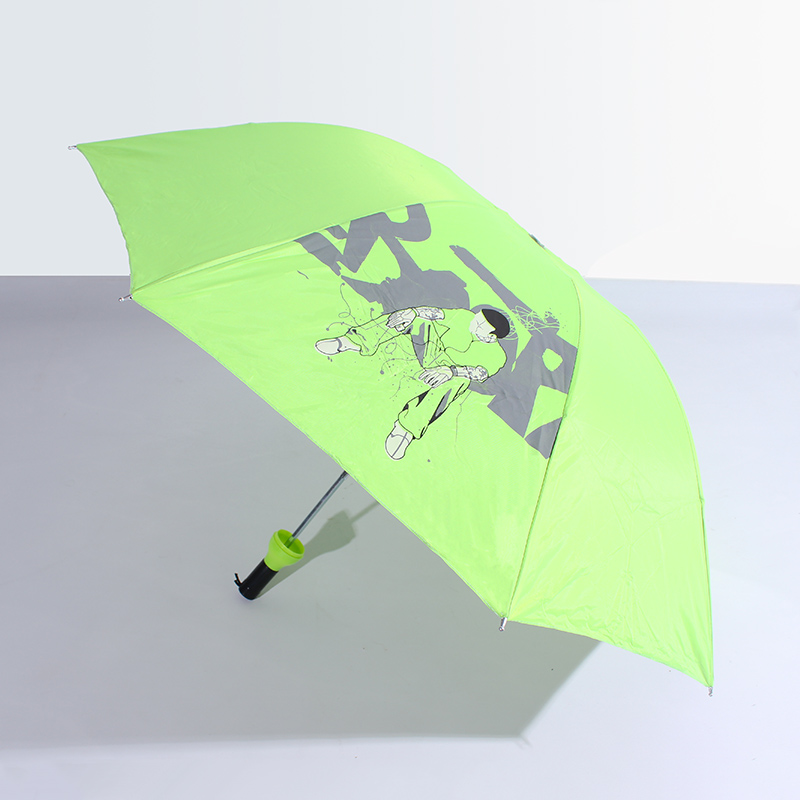 2017 China's unique innovative advertising custom folding beer bottle umbrella