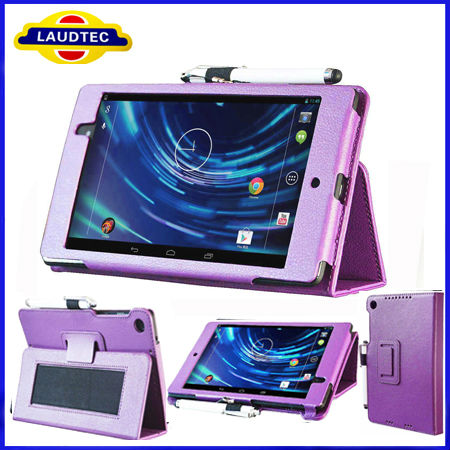With HandGrip Book Leather Stand Case for Google Nexus 7 2 Generation,Case for Google Nexus 7 II --Laudtec