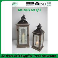 Customized design cheap decorative cemetery lantern ML-1439 set of 2