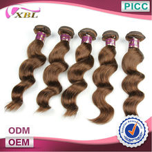 XBL Brown Color Virgin Remy Hair Factory Price Brazilian Hair Weft