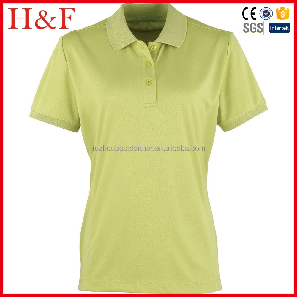 OEM Polo Shirt 100% Polyester Women's Solid Plain Polo