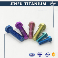 DIN933 Titanium Anodized Bolt And Nut