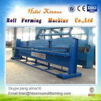 hydraulic manual plate flat sheet roll forming machine bending