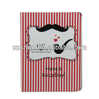 high quality beard cartoon stand leather case for ipad mini